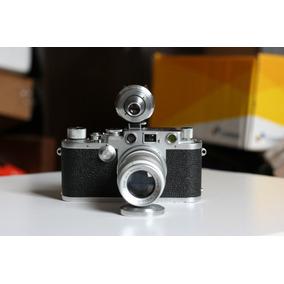 Camera Leica Iiif Red Dial, Lente Elmar 90mm E View Externo