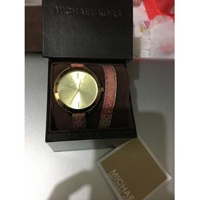 Reloj Michael Kors De Correa Doble De Piel Colores Combknad