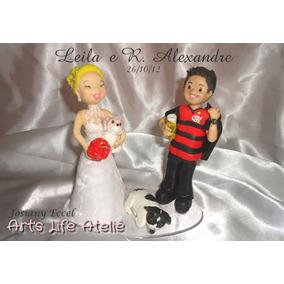Enfeite De Bolo De Casamento - Topo De Bolo - Noivos