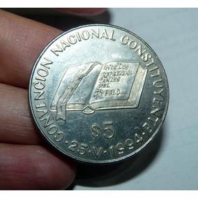 Moneda Argentina 5 Pesos 1994 Constituyente Curio-city