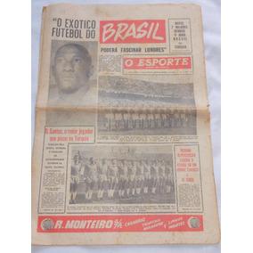 Jornal O Esporte 3 Maio 1956 Seleção Brasileira Em Londres