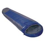 Saco De Dormir Mummy Azul E Cinza -1ºc A 8ºc - Nautika