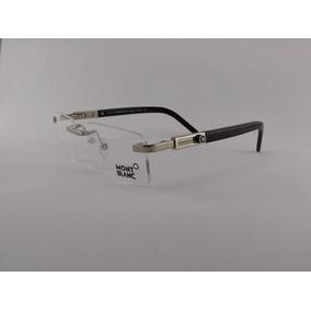 Armação Oculos Grau Mont Blanc Mb177 Classic Dourado Sem Aro ... cd8c80da1c