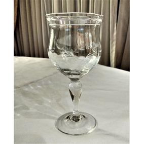 Copa Antigua De Agua De Cristal Tallado