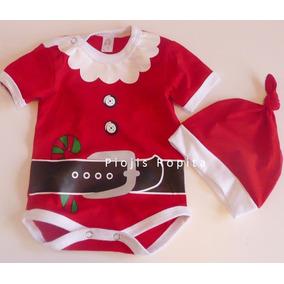 Disfraz Traje Bebe Papa Noel Algodo Navidad Body Gorro Veran 357687d048f