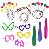 e712314e05afe Kit Festa Casamento 15 Anos 100 Óculos 70 Tiara 50 Gravata