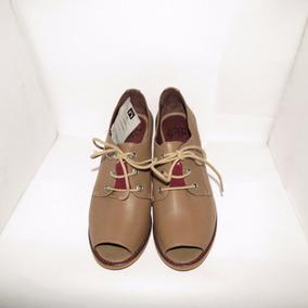146abcd527e Sapato Peep Toe Feminino Em Couro Uncle K + Brinde