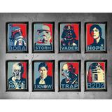 8 Cuadros Marvel, Dc, Star Wars, Iron Man, Deadpool, Batman.