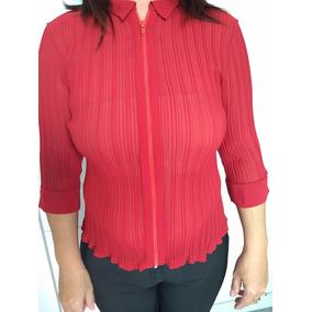 Camisa Social Feminina Com Ziper - Calçados 0268bc458201d