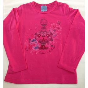 d0f2704177 Blusa Manga Longa Baby Look Estampa Perfume Malwee