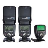 Kit Para Nikon Yongnuo 560tx Ii + 560iv X2 Flash Estudio