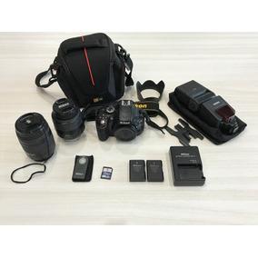 Camera Nikon D5100 +2 Lentes+flash+2baterias+case+extras