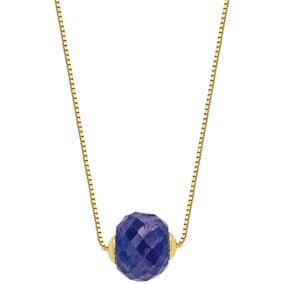 5169 Pingente De Ouro Branco 18k 750 Com Safira Azul Y - Colar no ... 68d1fece80