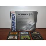 Game Boy Advance Sp + 6 Juegos - Como Nuevo!!