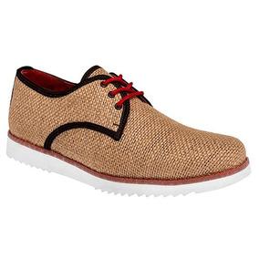 Zapato Casual Zull Miles 02 Beige -cafe Caballero Piel Pv