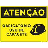 Placa Obrigatório Uso De Capacete Epi Em Alumínio 30x20cm 18748227cc