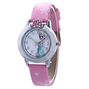 Relógio Frozen Infantil Elsa Pulseira Pink - Promoção