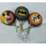 50 Pirulitos De Chocolate Nestlé Personalizado Mickey Minnie