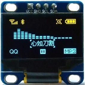Display Gráfico Oled 0.96 Azul E Amarelo I2c 128x64 Ssd1306