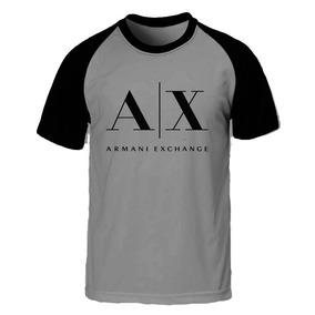 54ca342795a Camisa Camiseta Masculina Raglan Armani Ax Blusa