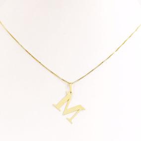 Colar Com A Primeira Letra Do Nome - Corrente de Ouro Feminino no ... f576a3d61c