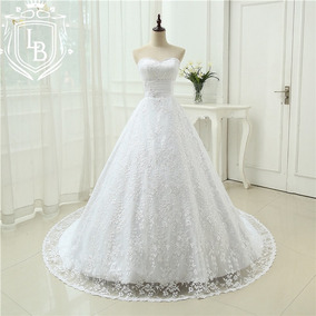 Vestido Princesa Renda Grandiose Noiva Mod23 Pronta Entrega