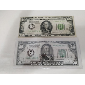 Cedulas De 100 E 50 Dolares Ano 1928