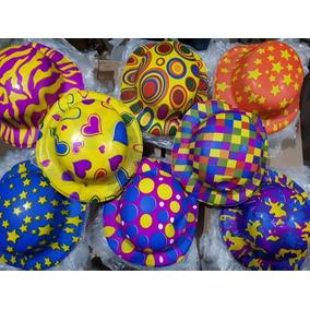 10 Sombrero Bombin Neon Plastico Fiesta Boda Evento Batuca