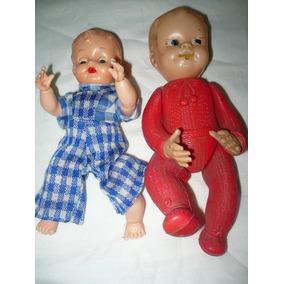 Antiguos Muñecos Bebé Plastico