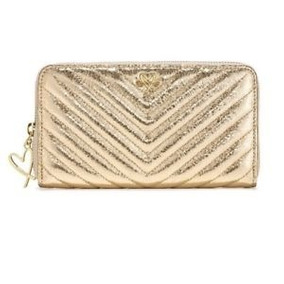Victorias Secret Cartera V-quilit Metallic
