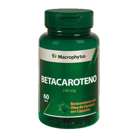 Betacaroteno Softgel 250mg Macrophytus® - 60caps