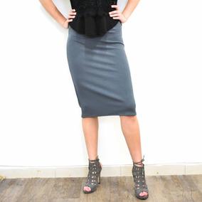 Faldas Tubo de Mujer Gris oscuro en Mercado Libre México 814d56614a92