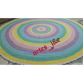 Tapete Em Croche Candy 3m