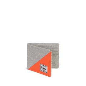Billetera Herschel Supply Roy Rfid Light Grey Crosshatch/ver