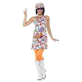Disfraz De Pollito Groovy De Smiffys Para Mujer, Anos 60, Gr