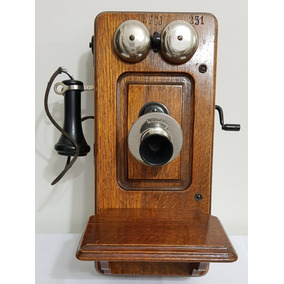 Telefone Antigo De Parede Kellogg Chicago Usa