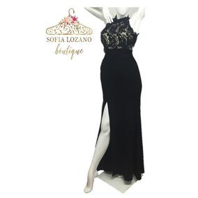 Vestido negro encaje cyzone