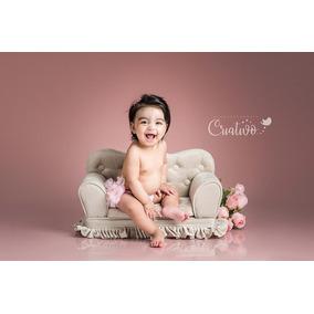 Mini Sofá De 2l.c/ Babado Fotografia Newborn& Acomp. Cores
