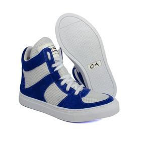 57e97dbbcd8 Tênis Feminino Treino Confort Couro Sneakers Cano Alto Leve
