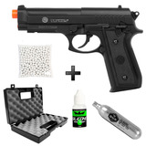 Pistola Airsoft Co2 Taurus Pt92 + Case+ Co2 + Bbs + Silicone