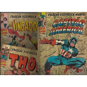 Lote 04 Gibis: Coleção Histórica Marvel Nº 01 Ao 04 ( 2012 )