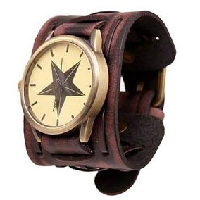 3d8ae81c163 Relogio Feminino Pulseira Couro Larga - Relógios De Pulso no Mercado ...