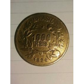 Moedas Antigas - 1000 Réis 1924 Fortuna