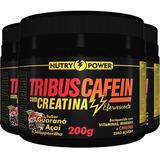 Tribuscafein - 3 X 200 Gramas - Apisnutri Guaraná Com Açaí