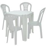Kit Mesa Quadrada Com 4 Cadeiras-tramontina-1m4csb
