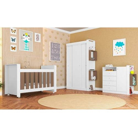 Quarto Infant Berç Cômod Guaroupa 3p Correr 1kit Rodízios Mt
