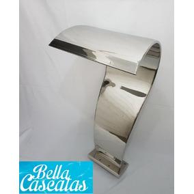 Cascata Inox Piscina High Tech Naja Grande - Espelhada
