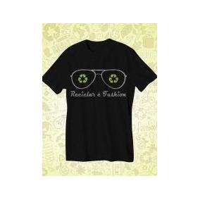 Camiseta Ecológica Em Malha Pet Estampada - Calçados 1ecab9b05316e