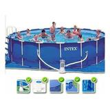 Pileta Intex Estructural 457 X 91 Completa - Con Accesorios