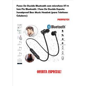 Bluetooth Headphones C/ Mic Xt11/esportivo/ Para Smarphones